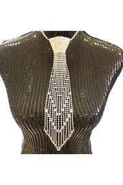 Nadya's Closet Rhinestone Tie Necklace - Front cropped