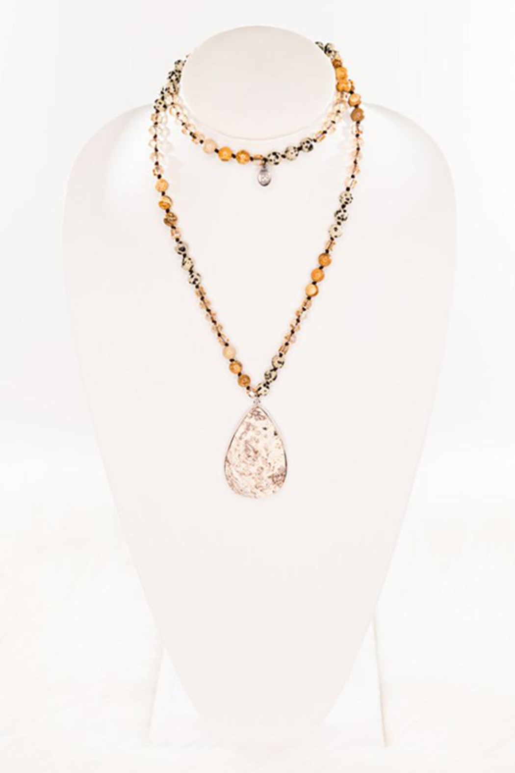Nadya's Closet Rochelle Natural Stone Necklace - Front Full Image