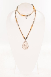 Nadya's Closet Rochelle Natural Stone Necklace - Front full body