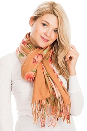 Nadya's Closet Rose Floral Fringed Scarf - Side cropped