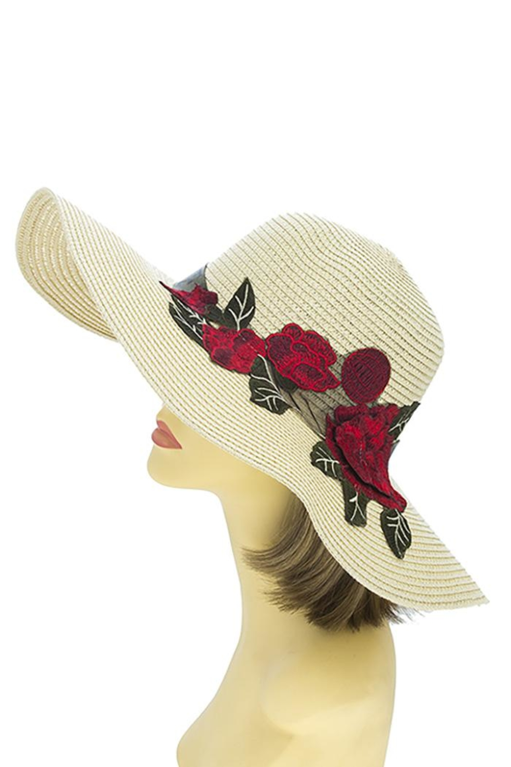 Nadya's Closet Rose Patched Floppy-Hat - Back Cropped Image