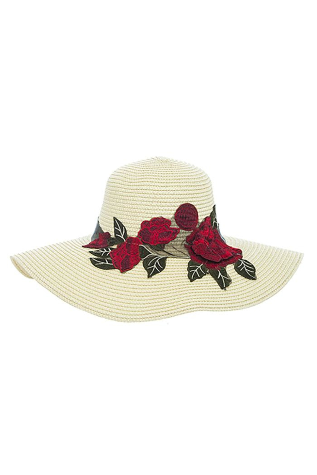 Nadya's Closet Rose Patched Floppy-Hat - Front Full Image