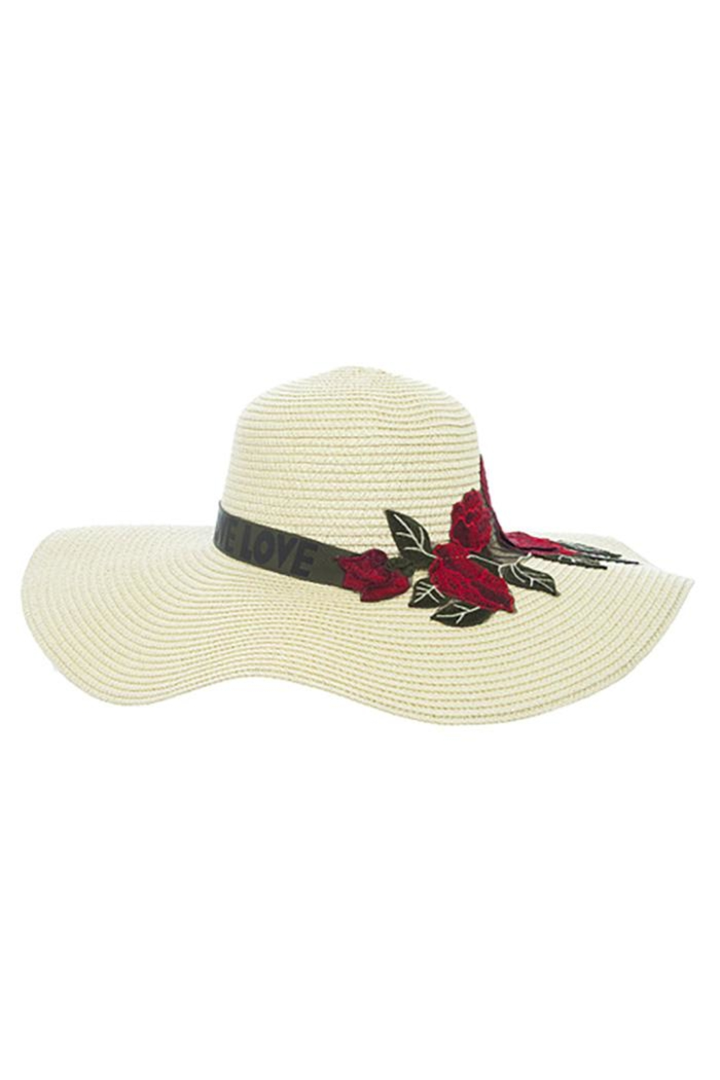 Nadya's Closet Rose Patched Floppy-Hat - Front Cropped Image
