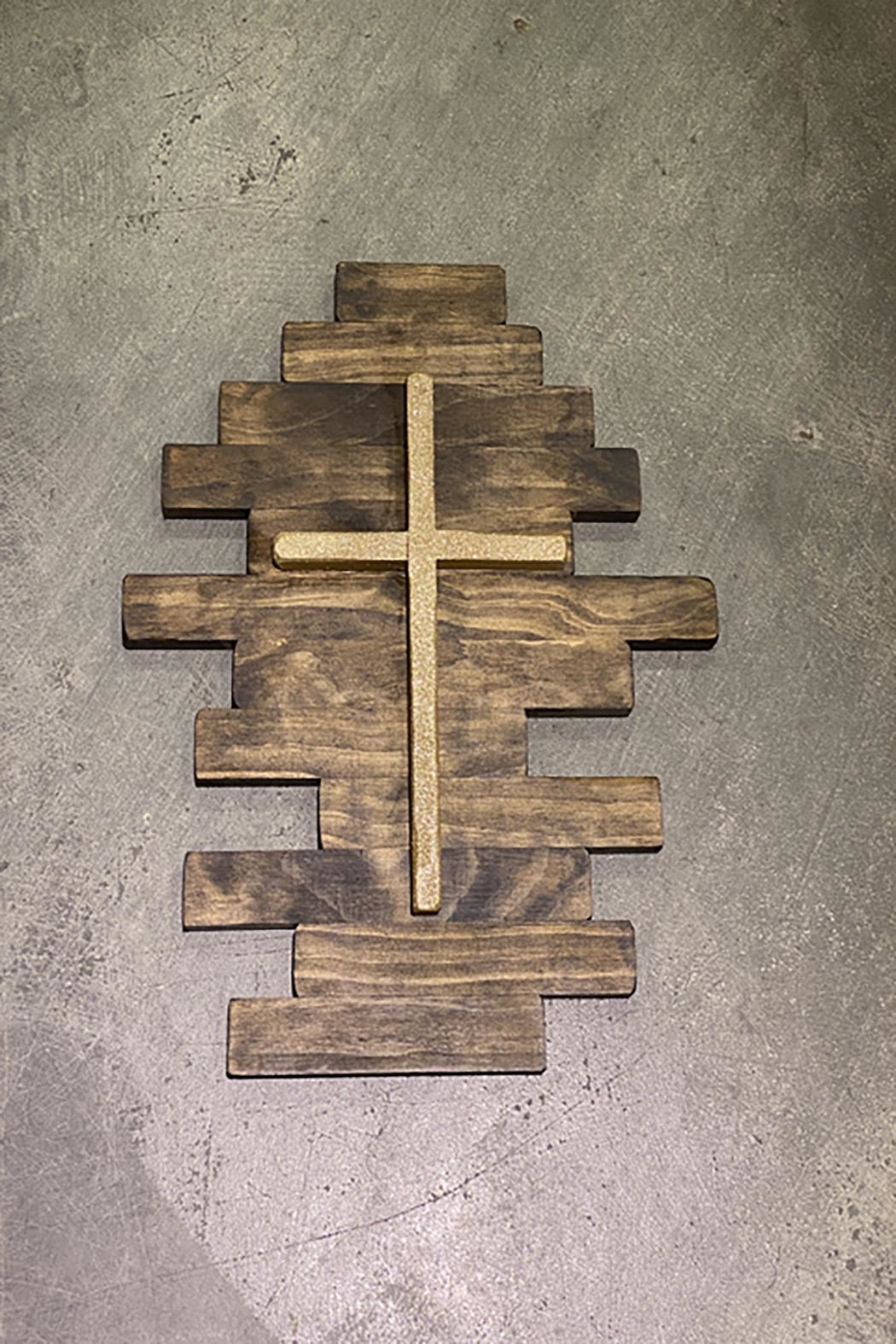 Nadya's Closet Rustic Wooden Wall Cross - Main Image