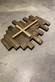 Nadya's Closet Rustic Wooden Wall Cross - Side cropped