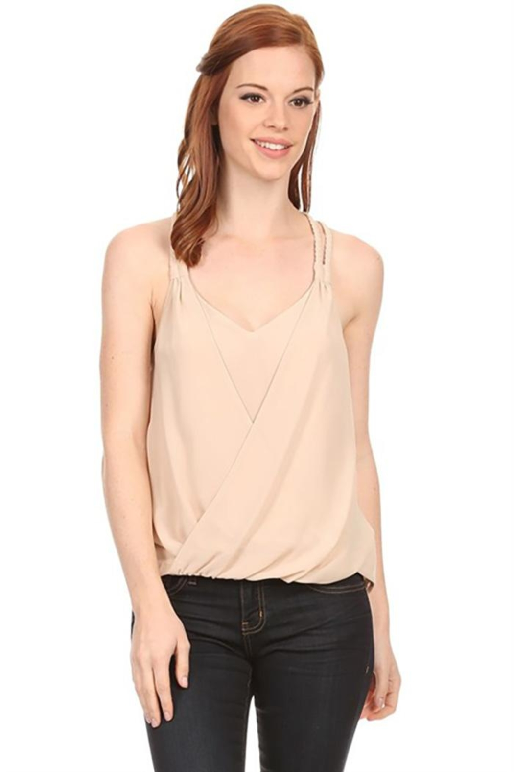 Nadya's Closet Scoop Neck Lace-Back - Front Cropped Image