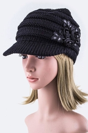 Nadya's Closet Sequins Flower Knit-Cap - Product Mini Image