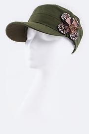 Nadya's Closet Sequins Flower Military-Cap - Product Mini Image