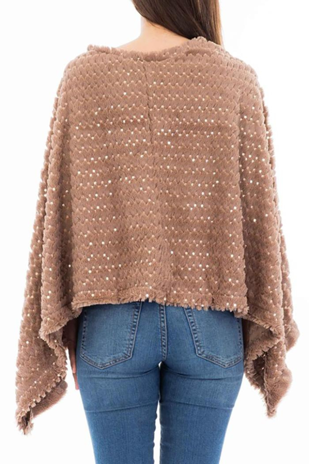 Nadya's Closet Shimmery Sequin Poncho - Front Full Image
