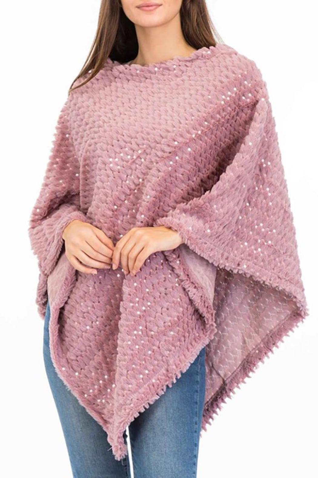 Nadya's Closet Shimmery Sequin Poncho - Main Image