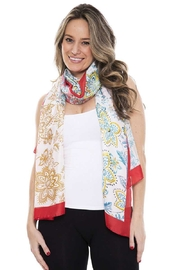 Nadya's Closet Silky Floral Oblong Scarf - Product Mini Image