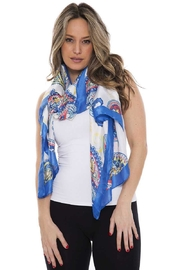 Nadya's Closet Silky Paisley Oblong Scarf - Front cropped