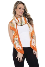 Nadya's Closet Silky Paisley Oblong Scarf - Product Mini Image