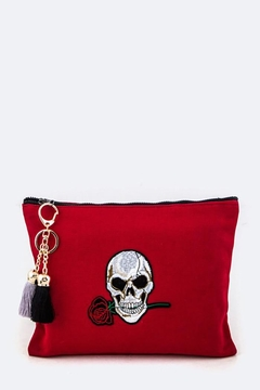 Shoptiques Product: Skull & Rose Pouch
