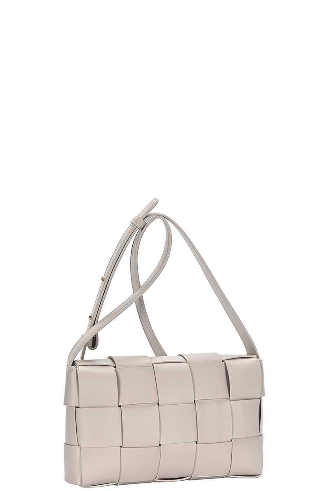 Nadya's Closet Smooth Boxed Checker Design Crossbody Bag - Front Cropped Image