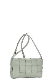 Nadya's Closet Smooth Boxed Checker Design Crossbody Bag - Front cropped