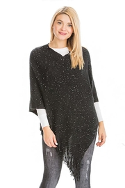 Nadya's Closet Soft Ribbed Poncho - Front cropped
