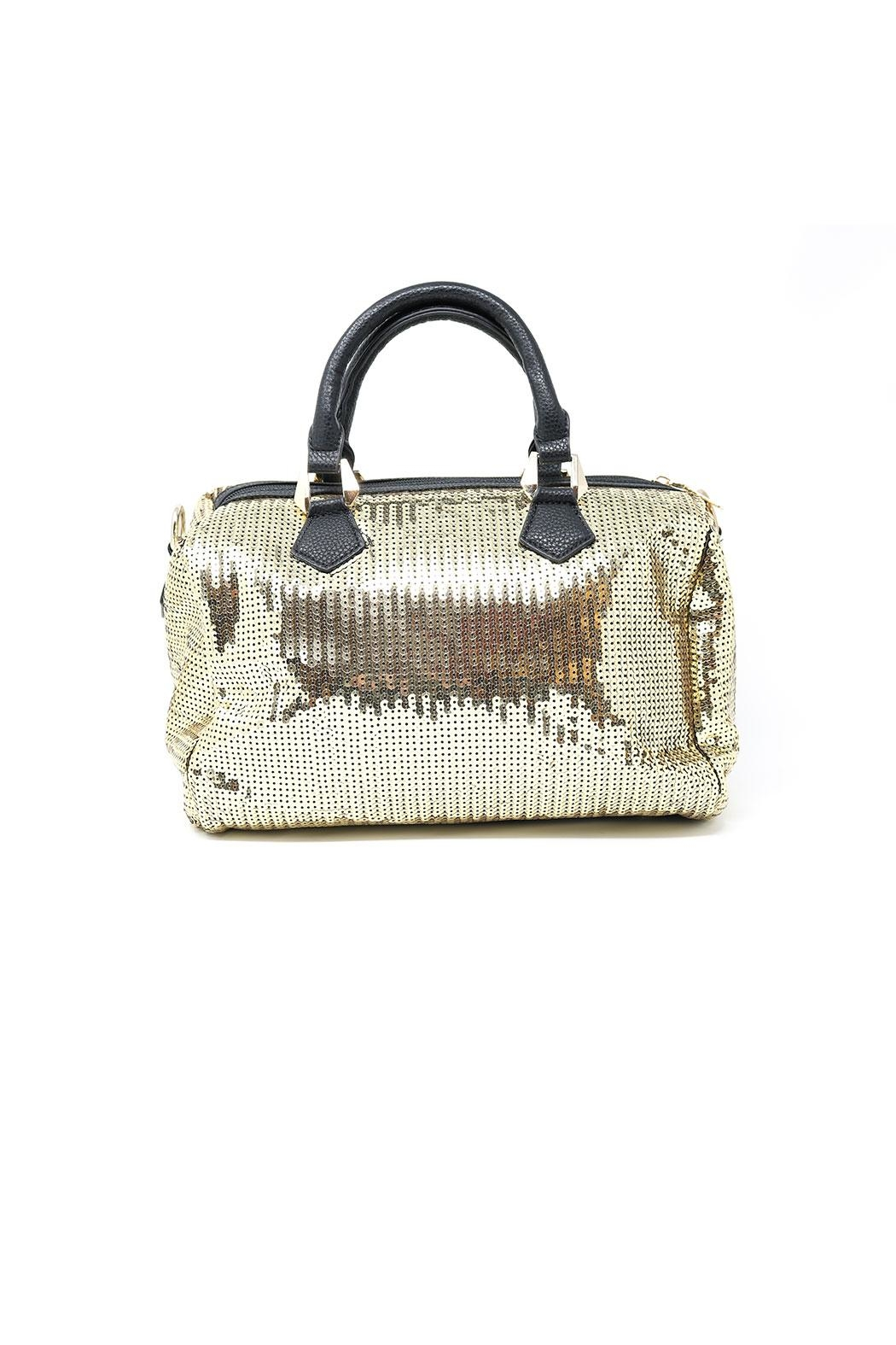 Nadya's Closet Soft Sequin Satchel Bag - Front Full Image