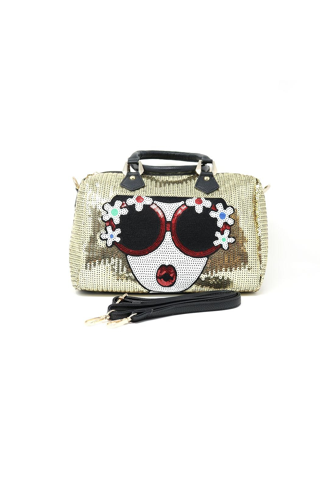 Nadya's Closet Soft Sequin Satchel Bag - Side Cropped Image