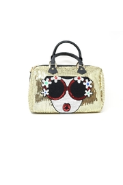 Nadya's Closet Soft Sequin Satchel Bag - Product Mini Image