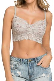 Nadya's Closet Solid Lace Bralette - Front cropped
