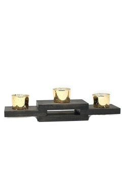 Shoptiques Product: Solid Pine Candle Holder