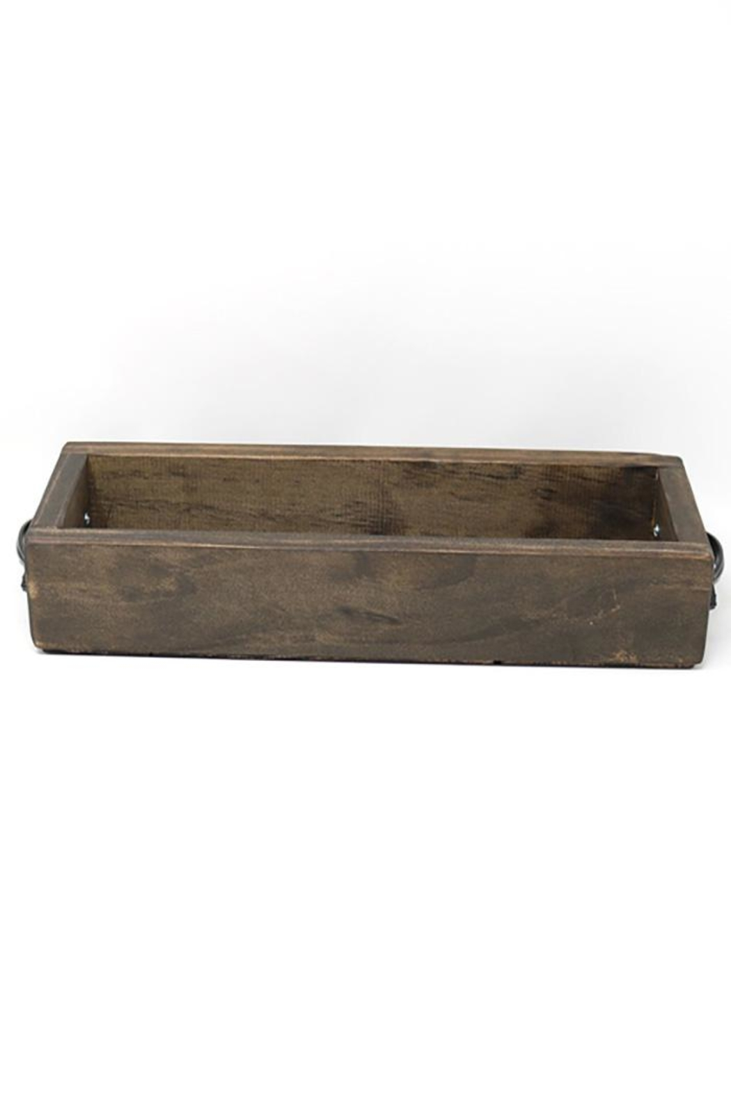 Nadya's Closet Solid Wood Tray With Handles. - Front Full Image