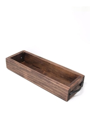 Nadya's Closet Solid Wood Tray With Handles. - Front full body