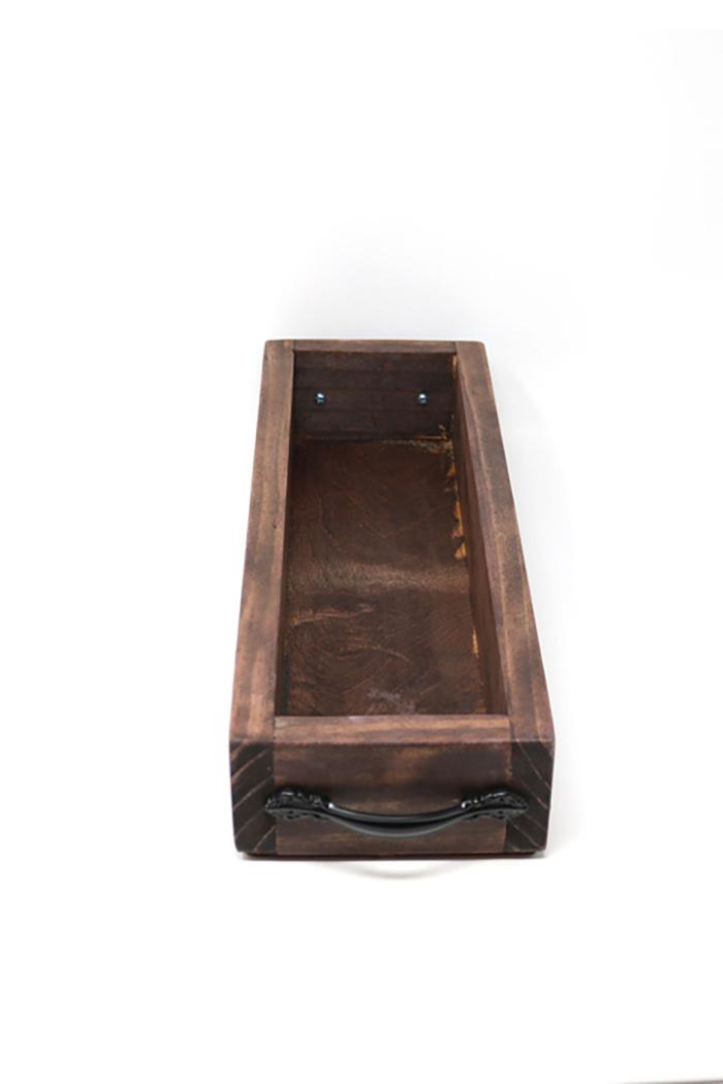 Nadya's Closet Solid Wood Tray With Handles. - Side Cropped Image