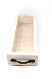 Nadya's Closet Solid Wood Tray With Handles. - Back cropped