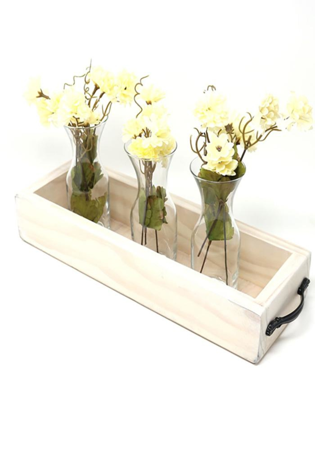 Nadya's Closet Solid Wood Tray With Handles. - Front Cropped Image