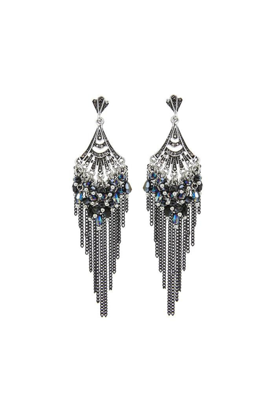 Nadya's Closet Sparkle Star Earrings - Front Cropped Image
