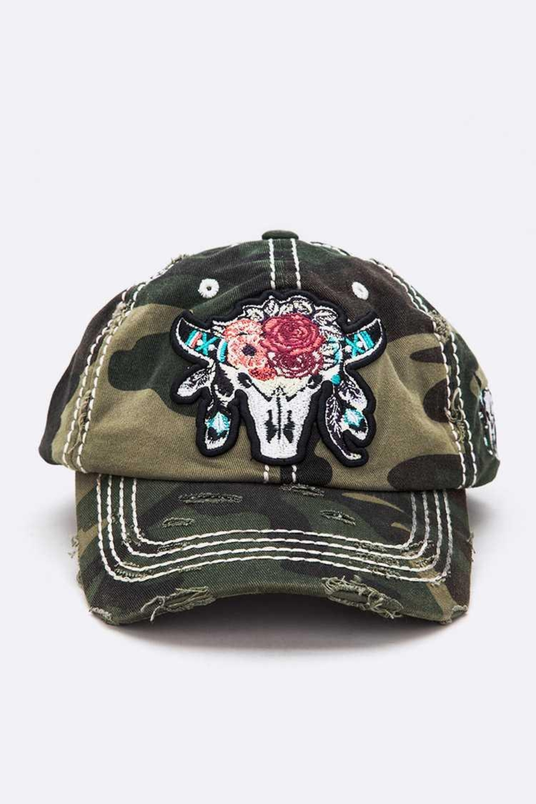 Nadya's Closet Steer Head Embroidered Vintage Cap - Main Image