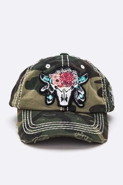 Nadya's Closet Steer Head Embroidered Vintage Cap - Front cropped