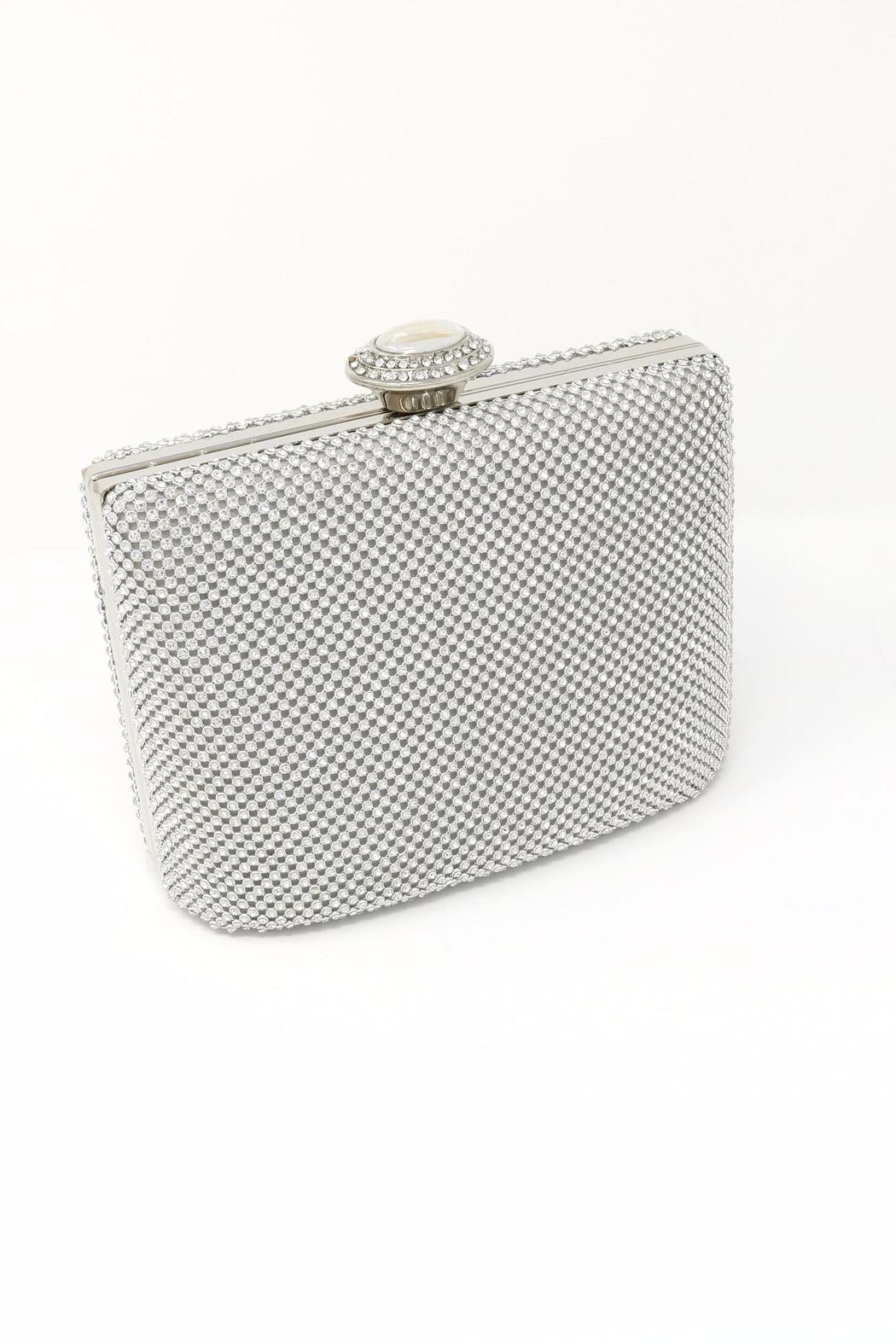 Nadya's Closet Stone Accent Evening Clutch - Front Cropped Image