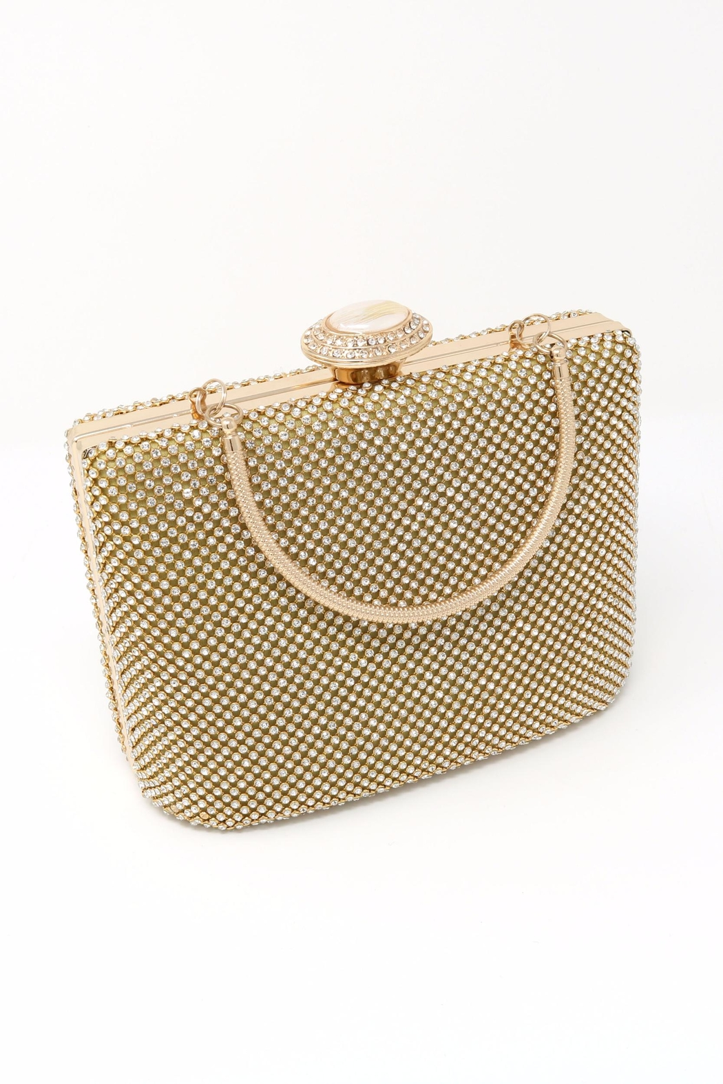 Nadya's Closet Stone Accent Evening Clutch - Front Full Image
