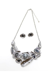 Nadya's Closet Stone Plates Necklace-Set. - Front cropped