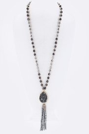 Nadya's Closet Stone Tassel Necklace - Product Mini Image