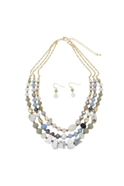 Nadya's Closet Stones & Beads Necklace Set - Front cropped