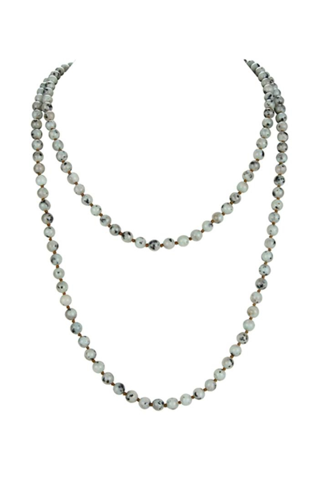 Nadya's Closet Stones Simple Style Long Beaded Necklaces - Front Cropped Image