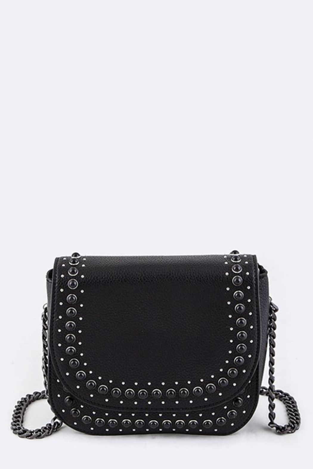 Nadya's Closet Studded Crossbody Bag - Front Cropped Image