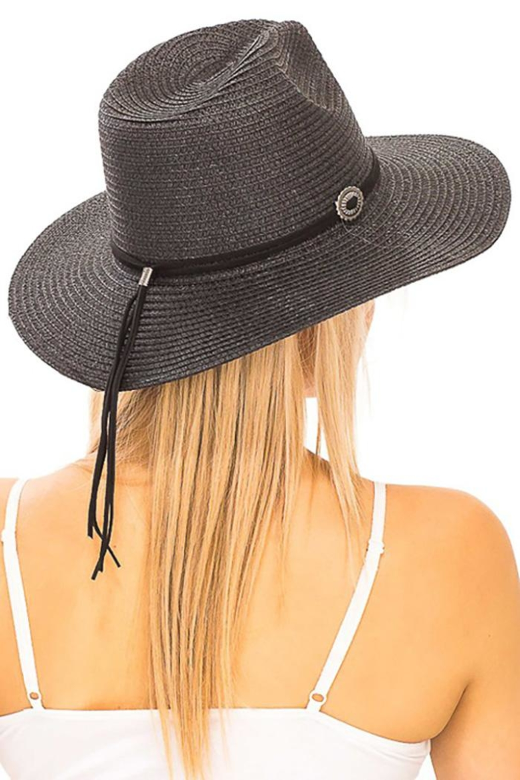 Nadya's Closet Suede Rope Panama-Hat - Side Cropped Image