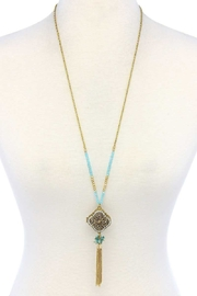 Nadya's Closet Tassel Drop Locket Necklace - Product Mini Image