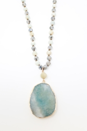 Nadya's Closet Teardrop & Bead Necklace - Front cropped