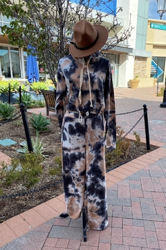 Nadya's Closet Tie Dye Long Sleeve Hoodie And Wide Pants Set - Product List Image