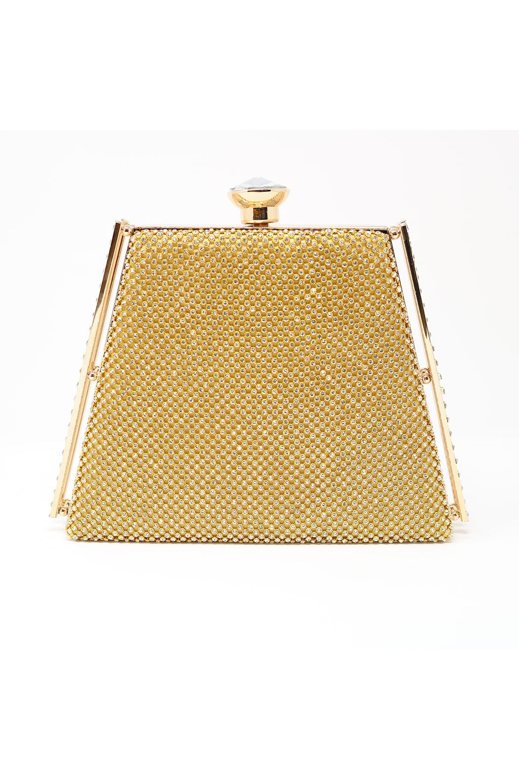 Nadya's Closet Trapezoid Shape Evening-Clutch - Front Cropped Image