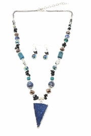Nadya's Closet Triangle Druzy Necklace Set - Product Mini Image