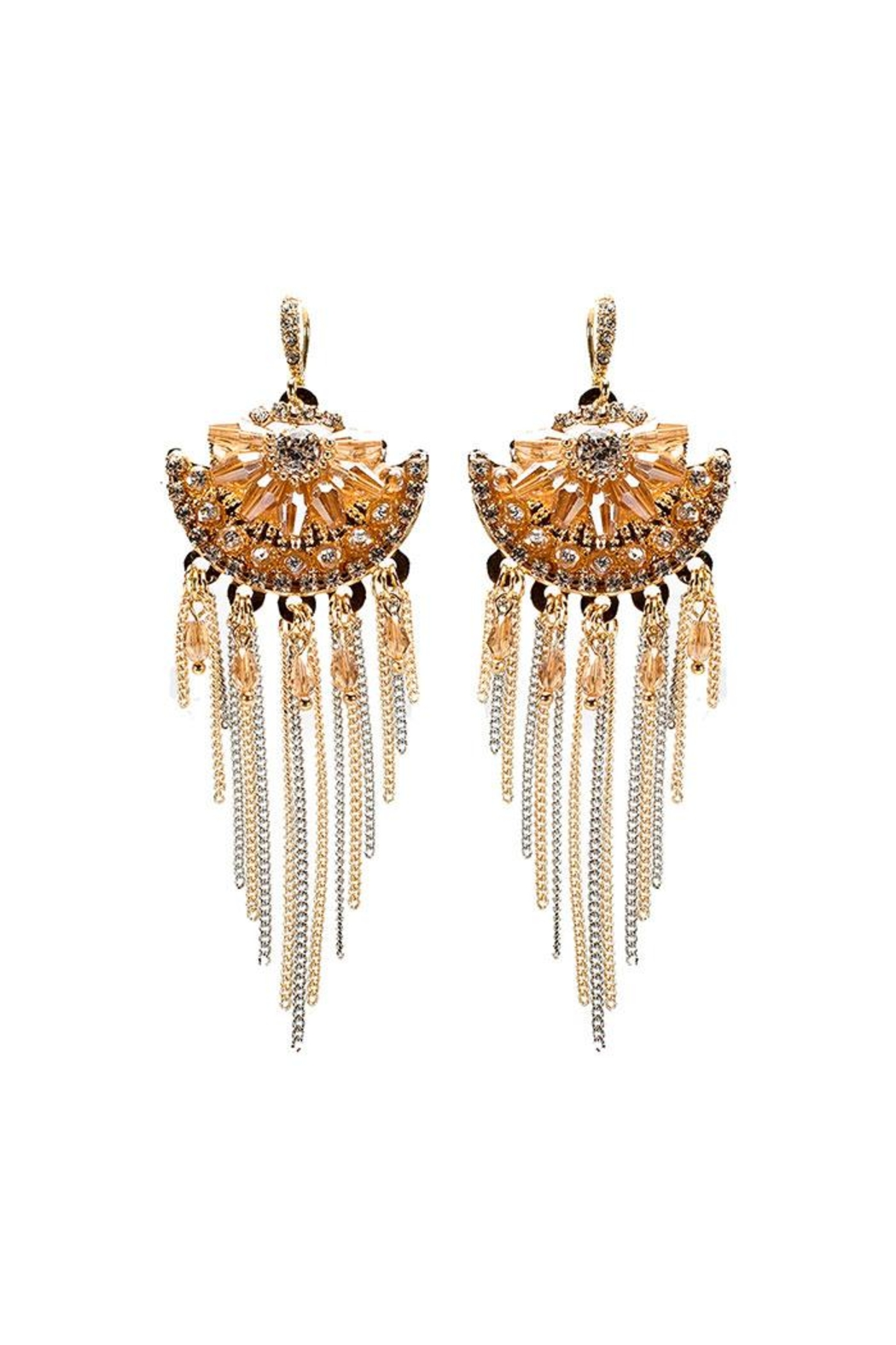 Nadya's Closet Tribal Boho Chic Earrings - Front Cropped Image