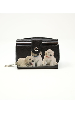Shoptiques Product: Trifold Puppy Wallet