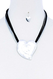 Nadya's Closet Triple Heart Necklace Set - Product Mini Image